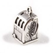 Slot Machine / Fruit Machine 3D Sterling Silver Charm